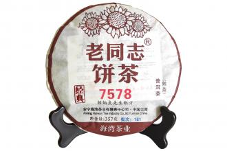 Лао Тун Чжи 7578 Шу Пуэр 2018г. (блин 357г)