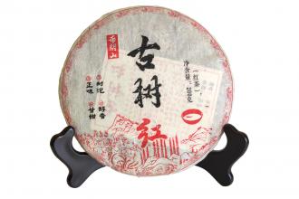 """Красный чай """"Гушу Булан шань"""" блин 200 г (фаб. Гу Чаюань, Юннань Мэнхай), 2015 год"""