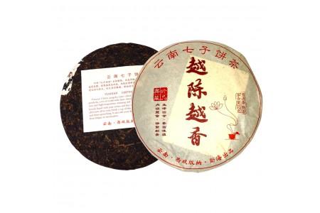 """""""Юэ Чэнь Юэ Сян"""" (Чем старше, тем ароматнее) (Юньнань, Сишуан баньна, 2015 год) блин 357г"""